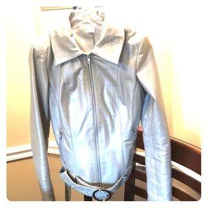 Cache leather jacket size 2